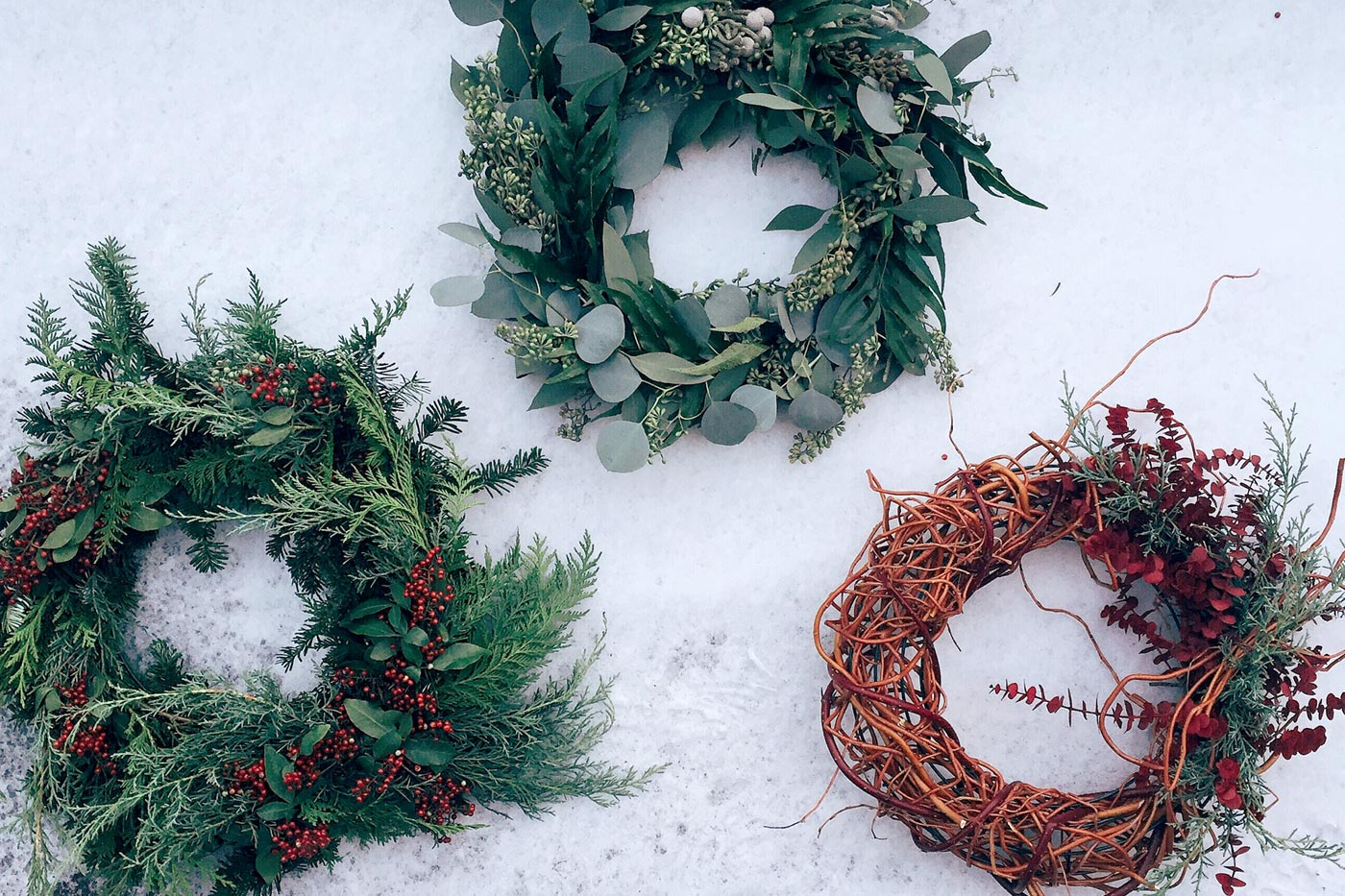 Make your own holiday wreaths